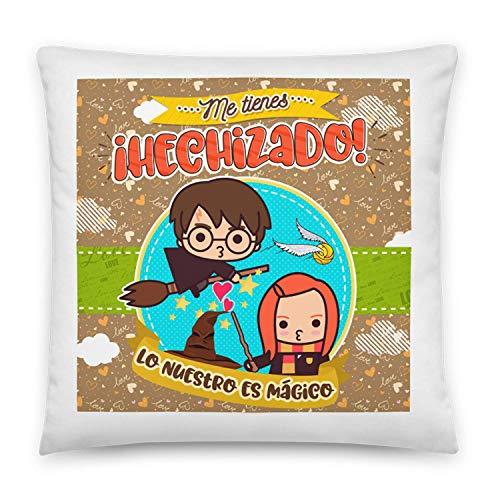 Kembilove Cojines para Parejas – Cojín para el sofá con Unos Mensajes y Colores únicos – Cojines para Parejas de Harry Potter – Ultra-Suave y cómodo – Regalo Ideal para San Valentín
