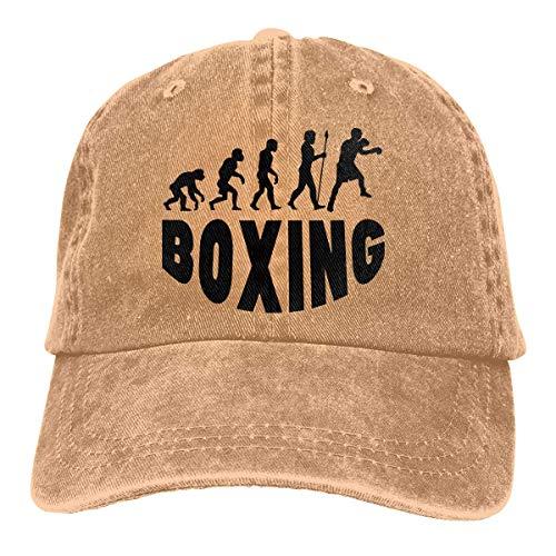 Hoswee Unisex Kappe/Baseballkappe, Boxing Evolution Men/Women Washed Adjustable Baseball Cap Jeans Back Closure Hip Hop Hats