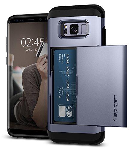 Spigen 571CS21799 Slim Armor CS Kompatibel con Samsung Galaxy S8 PLUS Custodia protettiva e silicone TPU + PC nero - Orchid Gray