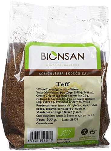 Bionsan Teff en Grano - 3 Paquetes de 500 Gramos, Total 1500 Gramos