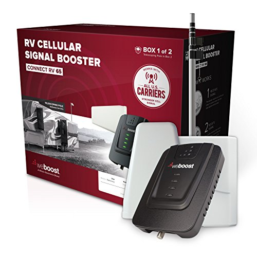 weBoost Connect RV 65 (471203) - Cell Phone Signal Booster for your Towable RV or Motorhome - Verizon, AT&T, T-Mobile, Sprint - Enhance Your Signal up to 32x - Stationary Use