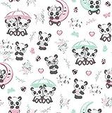 11,99€/m Panda 100% Baumwolle Baumwollstoff Kinder