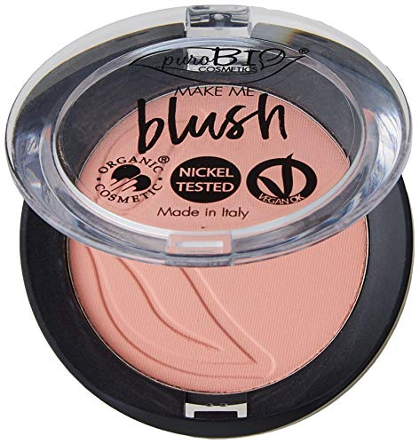 PUROBIO - Blush 02 - Rosa Coral - Alta Pigmentación, Textura Modular, Larga Duración - Vegano OK
