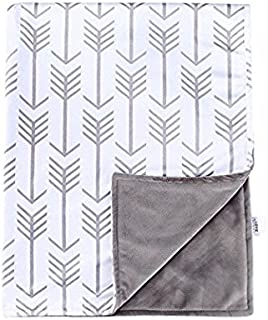 Towin Baby Arrow Minky Double Receiving Blanket, Grey 30