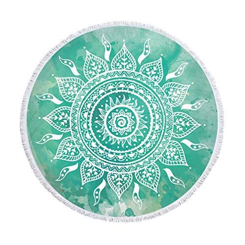 SHUNLI India Mandala Beach Circular Tapestry Throw Hippie Bohemian Beach Towel Beach Yoga Mats Round (Color : 03)