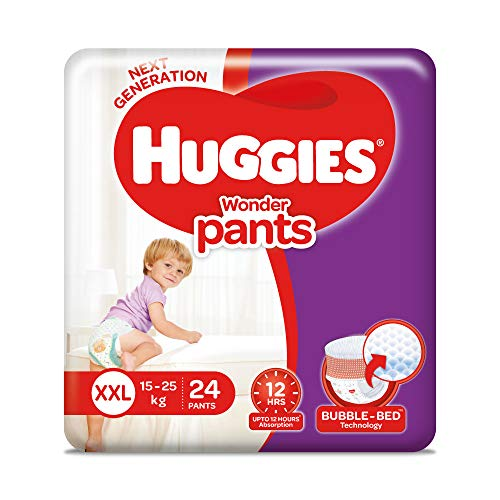 Huggies Wonder Pants Double Extra Large Size Baby Diapers (24 Count)