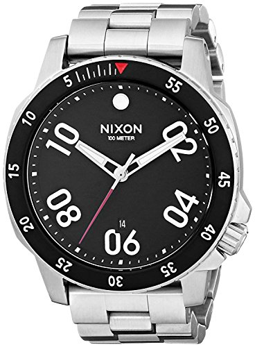 Nixon Herren Analog Quarz Uhr mit Edelstahl Armband A506000-00