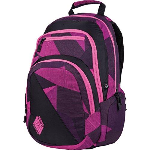 Nitro Stash Rucksack, Schulrucksack, Schoolbag, Daypack, Fragments Purple, 49 x 32 x 22 cm, 29 L
