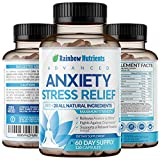 28 In 1 Stress and Anti Anxiety Relief Supplements- Natural Happy Pills That Helps Depression, Anxiety, Stress, Worrying & Mental Clarity | Max Dopamine Mood Boost for Women & Men | 120 Vegan Capsules