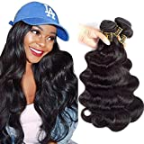 QTHAIR 12A Brazilian Virgin Hair Body Wave 4 bundles 20 22 24 26 inches 400g 100% Unprocessed Brazilian Body Wave Human Hair Weave for Black Women Natural Black Color Tangle Free