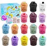 sloueasy 16 Pack Butter Slime Kit, with Mint Slime, Watermelon Slime, Coffee...