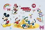 kibi adesivi Muro Minnie Disney Adesivi Muro Mickey Mouse Adesivo Da Parete Minnie Camera Da Letto Bambini Stickers Muro Bambini Mickey Mouse