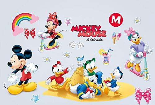 Kibi Wandtattoo Mickey Mouse Wandtattoo Mickey und Minnie Wandaufkleber Mickey Mouse wandsticker Mickey Maus Wandsticker Kinderzimmer Micky Mouse Aufkleber Wanddeko Wandtattoos Mickey Mouse