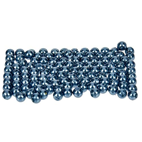 efco–Wachs Perlen, Kunststoff, blau, 4mm Durchmesser, 100Stück