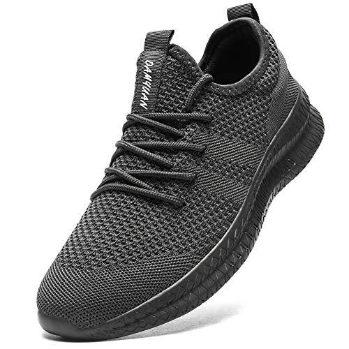Laufschuhe Herren Schuhe Sportschuhe Turnschuhe Sneaker Joggingschuhe Running Joggen Atmungsaktiv Walkingschuhe Outdoor Trainer Männer Shoes Grau 43