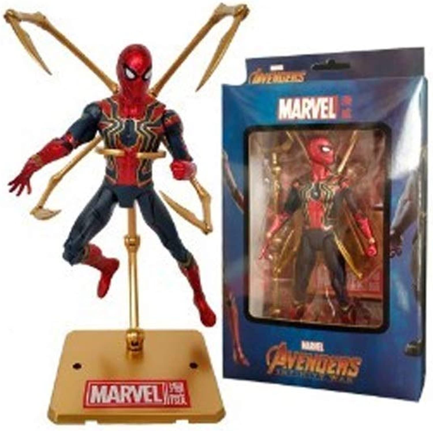 Action Character - Spiderman PVC Action Character Series Model Toy - Spiderman Hero Model - Height of About 6.6in
