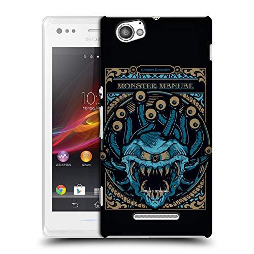Head Case Designs Offizielle Dungeons & Dragons Monster Handbuch Hydro74 Kunstwerk Harte Rueckseiten Huelle kompatibel mit Sony Xperia M/M Dual