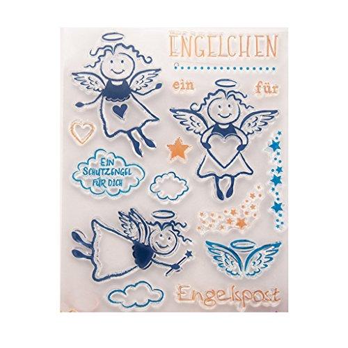 Ranuw Transparent Stempel (Engel) DIY Handwerk Silikon Clear Stamps Für Album Foto Sammelalbum Präge Scrapbooking