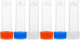 MagiDeal 6 Pieces Clear Plastic Needle Storage Tubes with Cap Sewing Needle Container