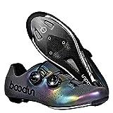 Zapatillas de Bicicleta Montaña Fibra Carbono Calzado Bicicleta Zapatos de Bicicleta Antideslizantes Transpirables para Hombres para Ciclismo Carretera de montaña,40