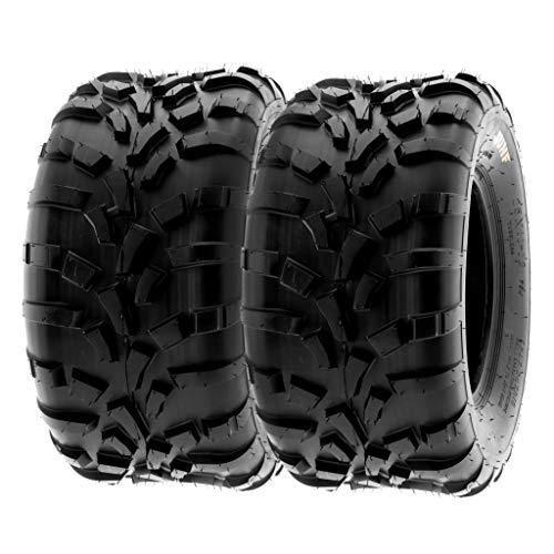 SunF A010 25x10-12 25x10x12 Quad ATV UTV Reifen Geländereifen mit Straßenzulassung 6PR TL 70J E Prüfzeichen direktionale und knorrige Laufflächen, Satz von 2 Stück