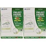 C-Line Projektmappen, biologisch abbaubar, Polypropylen, Briefgröße, 25 Stück pro Packung, 25...