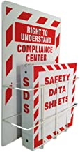 SAFERUN MSDS Right to Understand Center, Binder Steel Racks 3mm Thick Polystyrene Board with Coated Wire Basket.