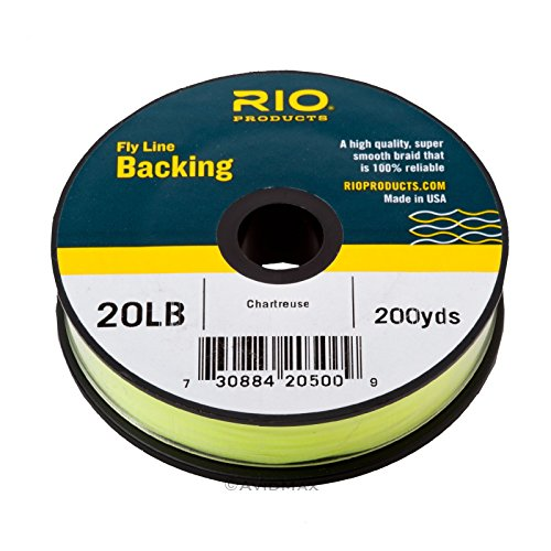 Rio Fly Fishing Backing Dacron 20Lb 200 yd. Fly Tying Equipment, Chartreuse