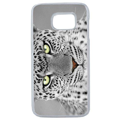Lapinette–Cover Rigida Leopardo Bianco delle Nevi Samsung Galaxy S6Edge