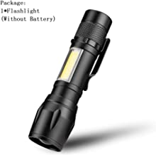 Portable LED Flashlight COB+XPE Tactical Torch Zoomable Focus Flashlights 3 Modes Waterproof Work Light Emergency Lanterna...
