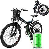 E-Bike Bici Pieghevole Mountain Bike Bici Elettrica con Cambio Shimano 21 velocità, 250W,...