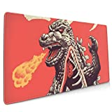 Godzilla Kaiju Anatomy Extended Gaming Mouse Mat, DIY Custom Professional Mouse Pad (35.5x15.8In),Desk Pad Keyboard Pad Mat, Water-Resistant, Non-Slip Base, For Work & Gaming, Office & Home