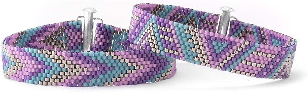 Fusion Free shipping free on posting reviews Beads Prism Peyote Bracelet Kit Heliotrope