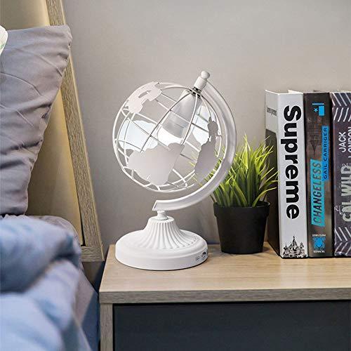 Lámpara de Mesa Lámpara Dormitorio Dormitorio Creativo Personalidad LED Faro for Estudiantes Lectura Escritorio Lámpara Globos Moda Simple Lámparas for niños 1 * E27 (28 * 38cm) (Color : White)