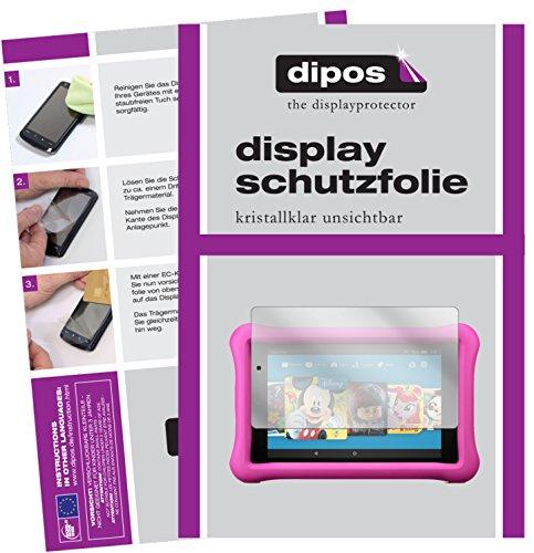 dipos I 2X Schutzfolie klar kompatibel mit Amazon Fire HD 8 Kids Edition (2017) Folie Bildschirmschutzfolie