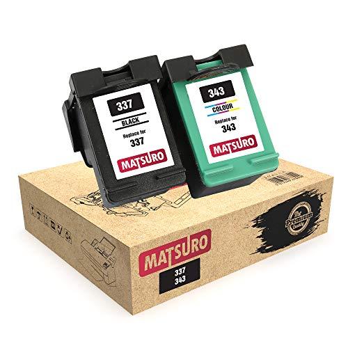 Matsuro Original   Kompatibel Remanufactured Tintenpatronen Ersatz für HP 337 343 (1 Set)