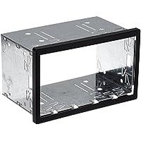 ACV - Marco de metal para radio de coche, 2DIN,  18.2 x 11.5 x 10.5 cm, Negro