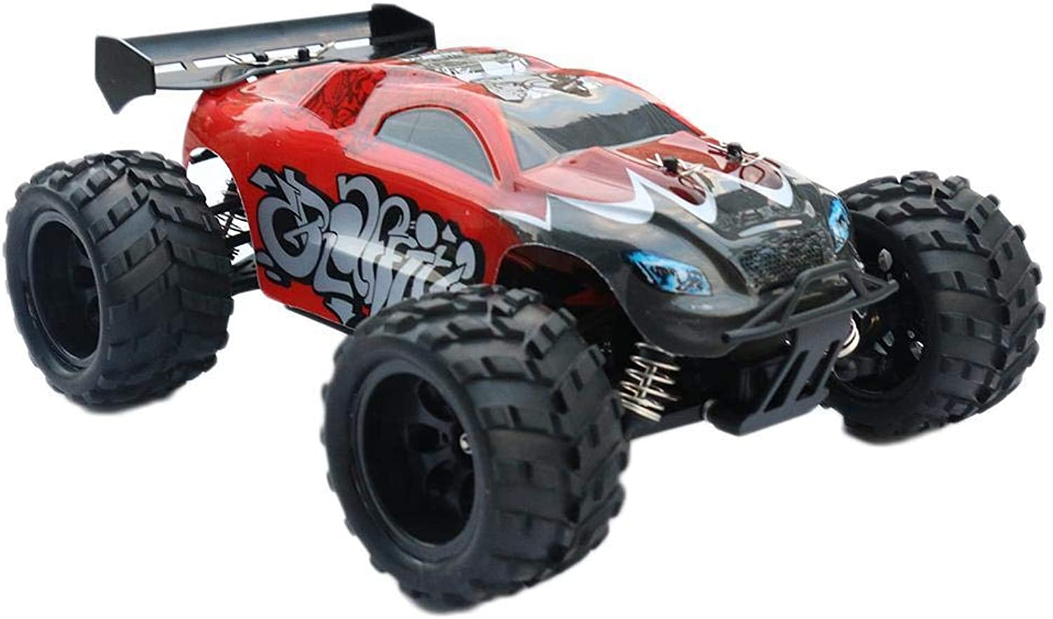 Generic TwoWheel Drive Remote Control Car High 1820min Speed   3 Years Old 15km h 100120min 50m RC Truck USB red