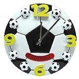 クリエイティブな壁時計、12インチのフットボールのバスケットボールの壁掛け時計パーソナリティ時計ワールドカップギフトリビングルームベッドルームサイレント時計家具装飾