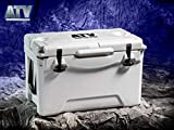 ATVPC Premium Insulated 35 Qt Cooler Ice Chest with Padded Carrying Handle