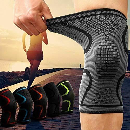 Kniebandage gegen Knieschmerzen 2er Set für Männer & Frauen - Bequeme Sport Knieorthese mit Antirutsch Saum - Knee Support gegen Arthrose, Meniskus, Knieschmerzen (XL)