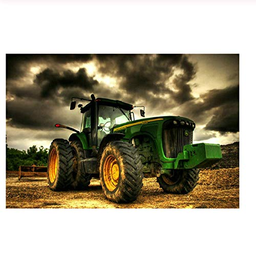 Adult Puzzle Classic Jigsaw Puzzle 1000 Pieces Wooden Puzzle DIY Cool Tractor Modern Home Decor Unique Gift Intellectual Game 75x50cm