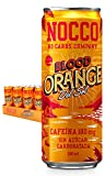 NOCCO BCAA Blood orange del sol 24 latas x 330ml Bebida energética funcional sin azúcar No Carbs Company Enriquecida con vitaminas Con cafeína Bebidas para deportistas