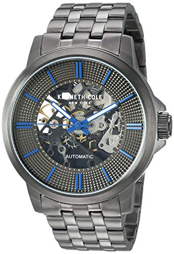 Kenneth Cole New York Male Quartz Watch with Stainless Steel Strap, Grey, 21 (Model: KC50690001)