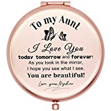 Muminglong Frosted Compact Makeup Mirror for Aunt from Nephew Birthday Thanksgiving Gifts Ideas for Aunt-New hudie Aunt Nephew