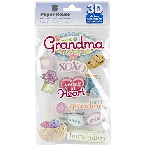 Paper House Productions Grandma 3D Stickers
