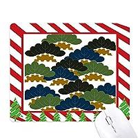 中国の松の木の伝統的な抽象的なパターン ゴムクリスマスキャンディマウスパッド