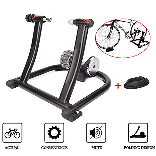 Fluid Bike Trainer Stand - Indoor Fiets Oefening Stand - Heavy Duty Stable Bike Stationair Riding standondersteunt 135kg / 297lbs, met voorwiel Riser Block