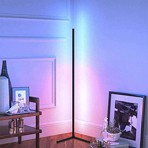 FENGTING Luz de Esquina, Lámpara de pie, Lámparas de pie LED Cambio de Color, Luz de Esquina de pie Lineal con Control Remoto, luz de Noche Regulable para dormitorios de Sala de Estar