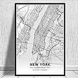 nobrand New York Manchester Mekka Weltstadt Reise Karte
